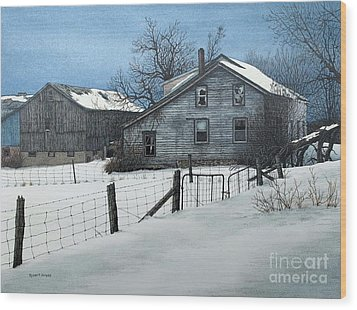 Deserted Farm Prince Edward County Wood Print