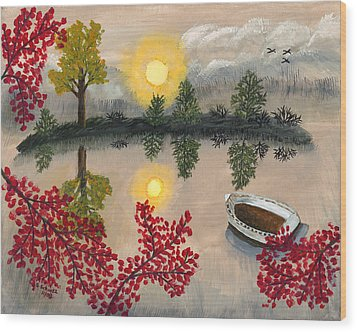 Deserted Wood Print by Susan Schmitz