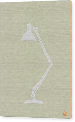 Desk Lamp Wood Print by Naxart Studio