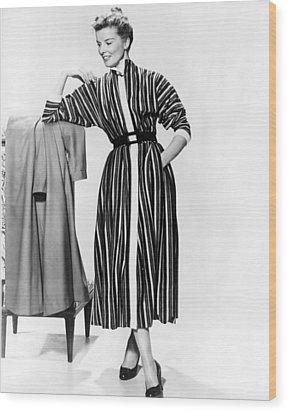 Desk Set, Katharine Hepburn, 1957 Wood Print by Everett