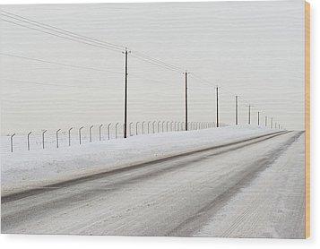 Desolate Winter Road Wood Print by Lynn Koenig