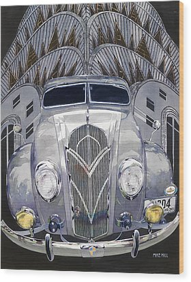 Desoto And Deco Design Wood Print by Mike Hill