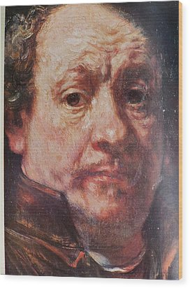 Detail From Portrait Of The Artist Rembrandt Canady Portfolio 9 Wood Print by Jake Hartz