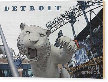 Detroit Tigers I Wood Print by Linda  Parker