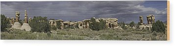 Wood Print featuring the photograph Devils Garden Panorama by Gregory Scott