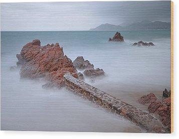 Diagonal Rocks Wood Print by © Yannick Lefevre - Photography