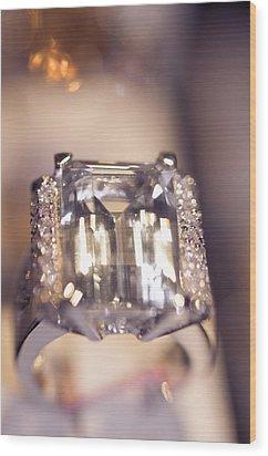 Diamond Ring. Spirit Of Treasure Wood Print by Jenny Rainbow