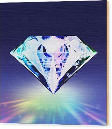 Diamond Wood Print by Setsiri Silapasuwanchai
