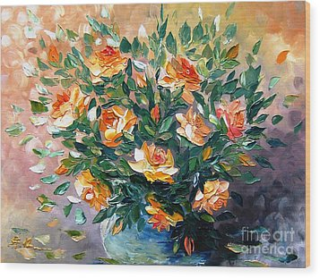 Diana S Roses Wood Print by AmaS Art