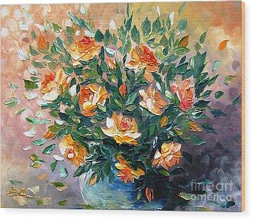 Diana S Roses Wood Print