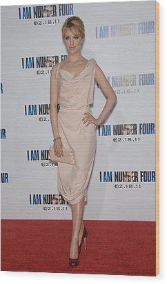 Dianna Agron Wearing A Vivienne Wood Print by Everett