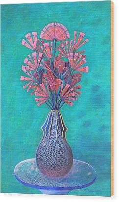 Diatoms Wood Print by Purvis Evans