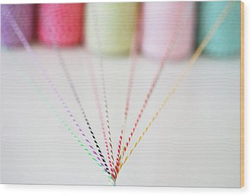 Different Colored Twine Twisting Together Wood Print by © Stacey Winters  www.staceywinters.com