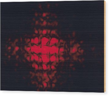 Diffraction Pattern Wood Print by Andrew Lambert Photography
