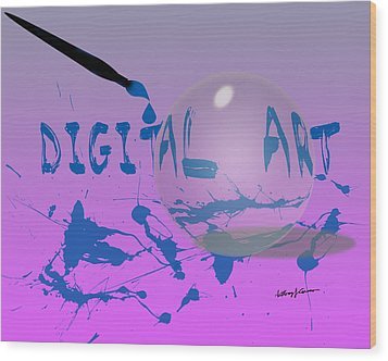 Digital Art Wood Print by Anthony Caruso