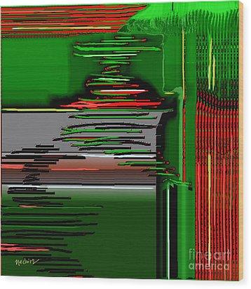 Digital Design 384 Wood Print by Nedunseralathan R