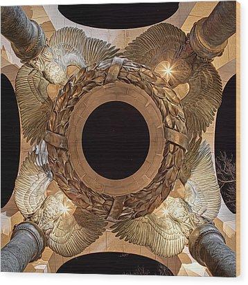 Digital Liquid -  Ww II Memorial Victory Wreath Wood Print by Metro DC Photography
