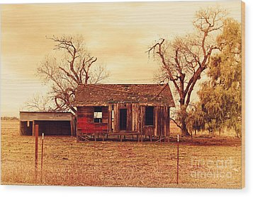 Wood Print featuring the photograph Dilapidated Old Farm House . 7d10341 by Wingsdomain Art and Photography