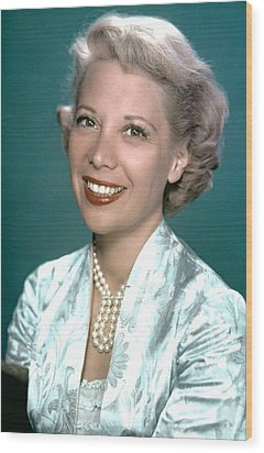 Dinah Shore, Ca. 1950s Wood Print by Everett
