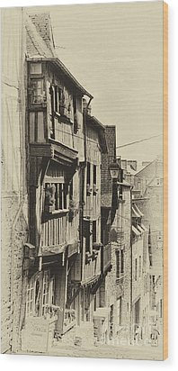 Wood Print featuring the photograph Dinan Antique I by Jack Torcello