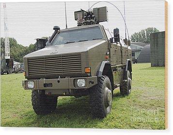 Dingo II Vehicle Of The Belgian Army Wood Print by Luc De Jaeger