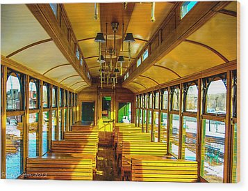 Wood Print featuring the photograph Dining Car by Shannon Harrington