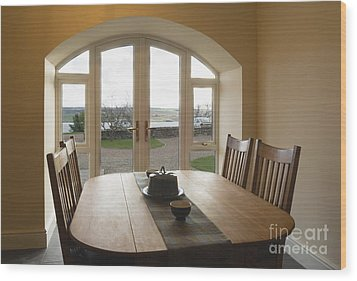 Dining Room Table Wood Print by Iain Sarjeant