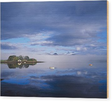 Dinish Island, Kenmare Bay, County Wood Print by The Irish Image Collection