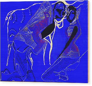 Wood Print featuring the painting Dinka Marriage by Gloria Ssali