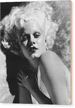 Dinner At Eight, Jean Harlow, 1933 Wood Print by Everett