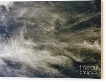 Dirty Clouds Wood Print by Clayton Bruster