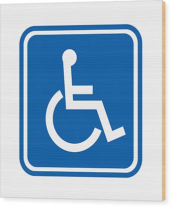 Disability Sign, Computer Artwork Wood Print by