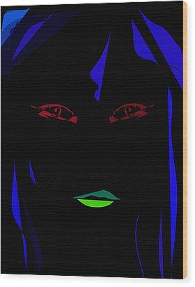 Disco Wood Print by Derrick Hayes