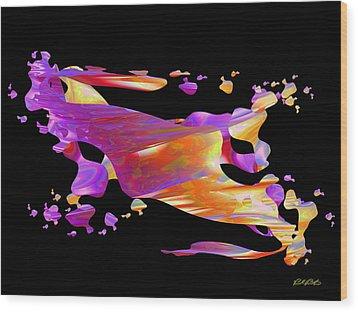 Disintegration Wood Print by Paul Postma