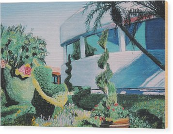 Disney Epcot Topiary Wood Print