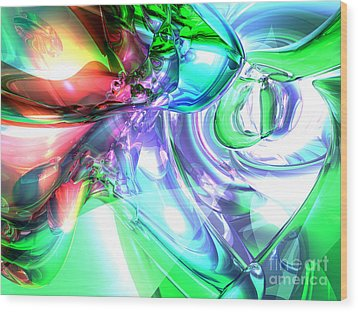 Disorderly Color Abstract Wood Print by Alexander Butler