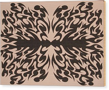 Disoriented Thought Wood Print by Raiyan Talkhani