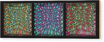 Disperse Color Tones Wood Print by Ankeeta Bansal