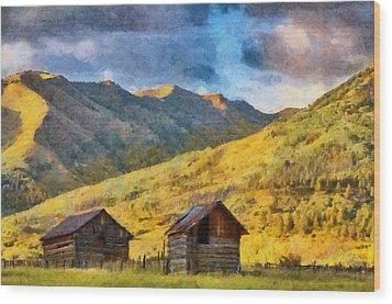 Distant Storm Wood Print by Jeff Kolker