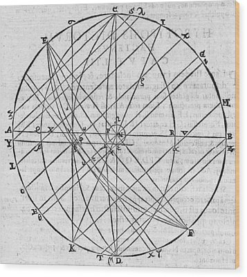 Distortion Of The Sun, 17th Century Wood Print by Middle Temple Library