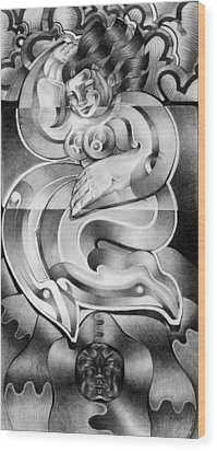 Divine Wood Print