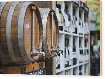 Diy Wine Wood Print by Heather Applegate