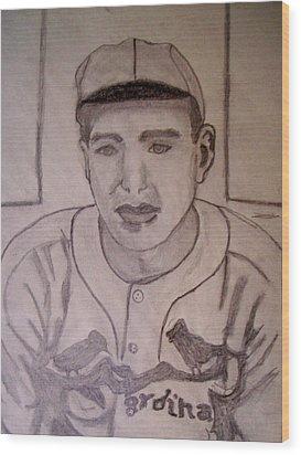 Dizzy Dean Cardinals Pitcher Wood Print by De Beall