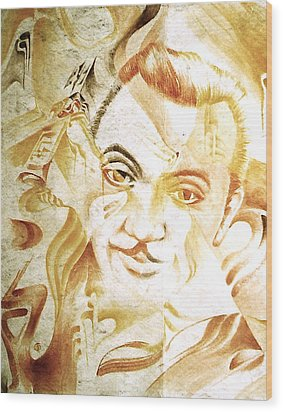 Django Reinhardt Wood Print by Jaabi Faarai
