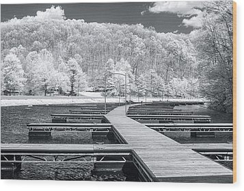 Wood Print featuring the photograph Dock In Infrared by Mary Almond