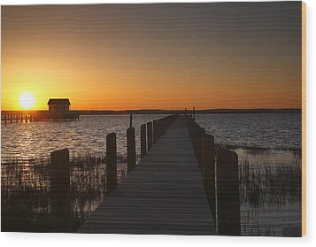 Dock On The Bay Wood Print by Steven Ainsworth
