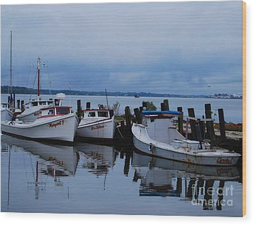 Wood Print featuring the photograph Docked by Linda Mesibov
