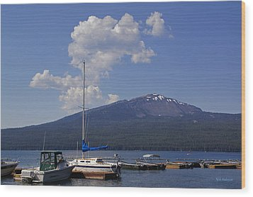 Wood Print featuring the photograph Docks At Diamond Lake by Mick Anderson