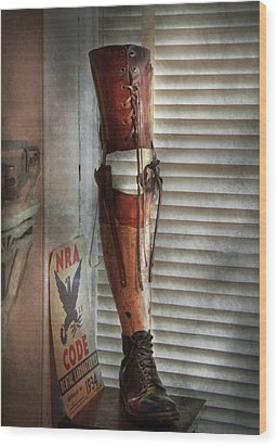 Doctor - A Leg Up In The Competition Wood Print by Mike Savad