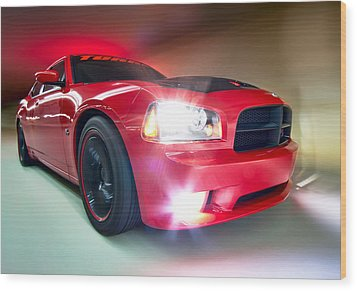 Wood Print featuring the photograph Dodge Charger by Anna Rumiantseva